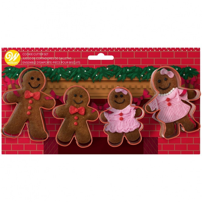 Cookie Cutter Set - Gingerbread Family/4pcs - Wilton