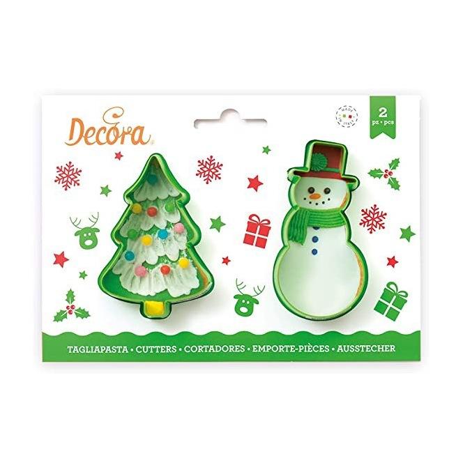 Cookie Cutter Set - Christmas Tree & Snowman - Decora