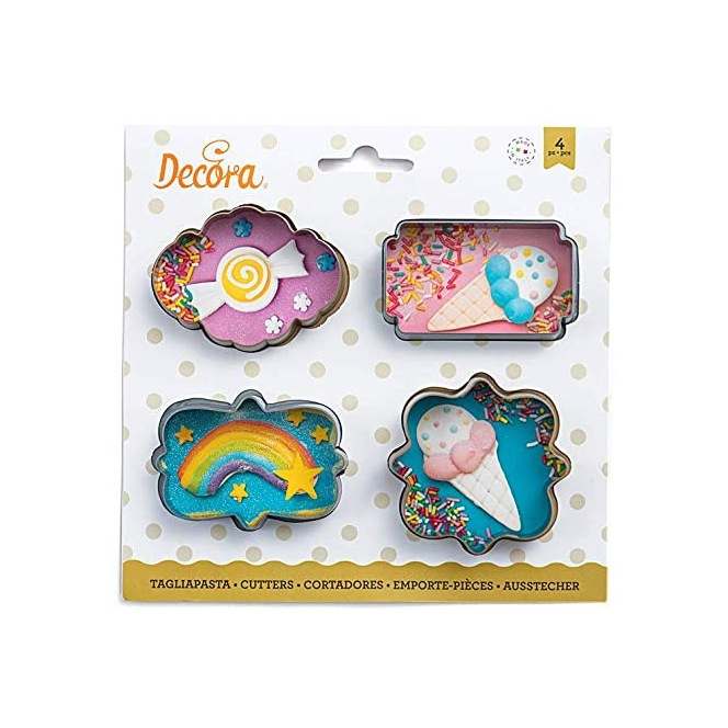 Cookie Cutter Set - Plaques Small - Decora