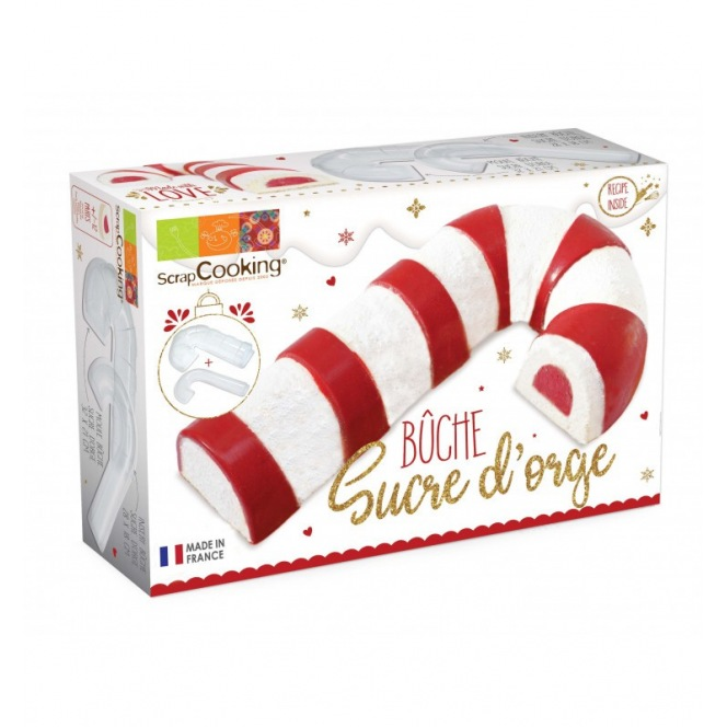 Yule log Candy Cane