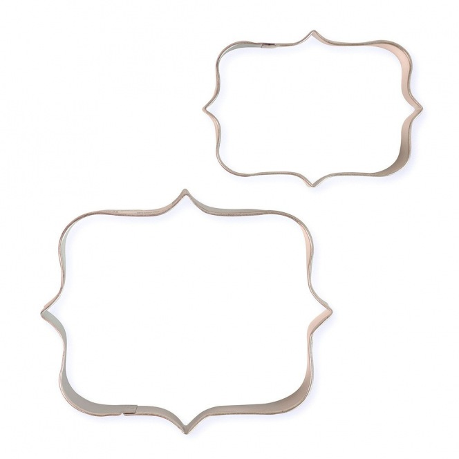 Cookie Cutters - Plaques Style 4 - 2pcs - PME