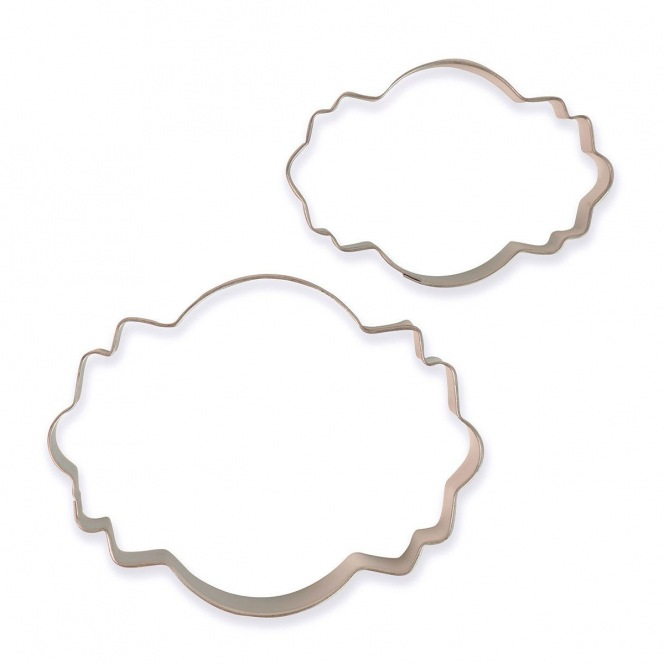 Cookie Cutters - Plaques Style 1 - 2pcs - PME