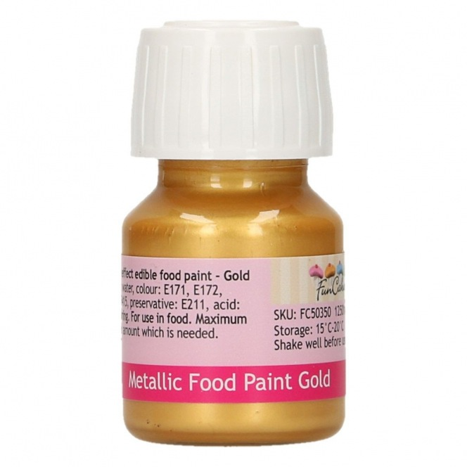 Edible Paint - Metallic Gold - Funcakes
