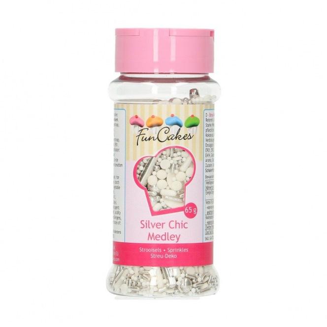 Sprinkle Medley - Silver Chic - 65g - Funcakes