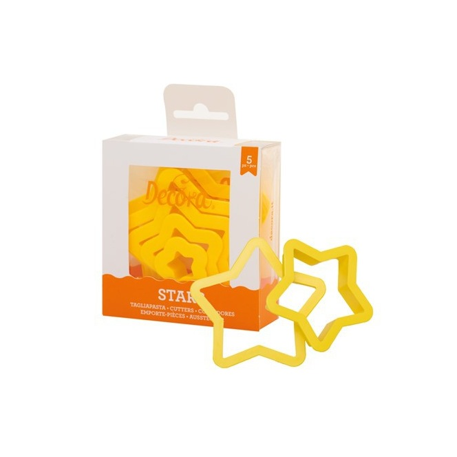 Cookie Cutter set - Stars /5pcs - Decora