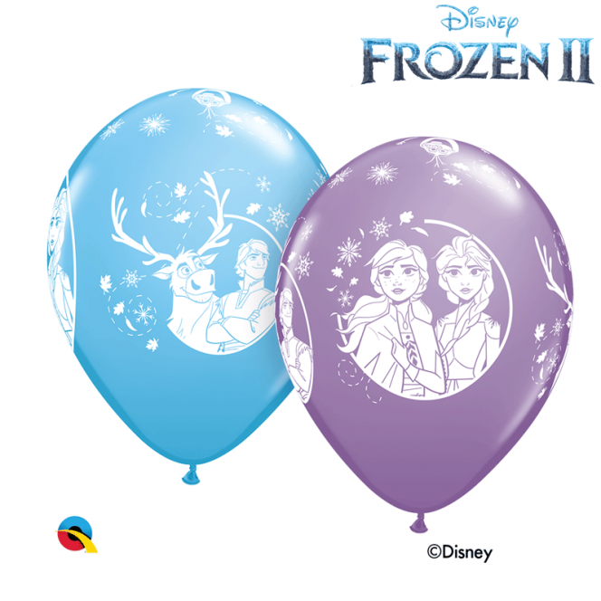 6 Frozen II Balloons latex
