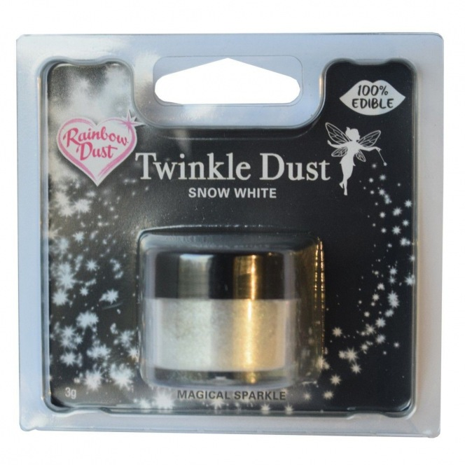 Edible Silk Twinkle Dust Snow White Rainbow Dust 3,5g