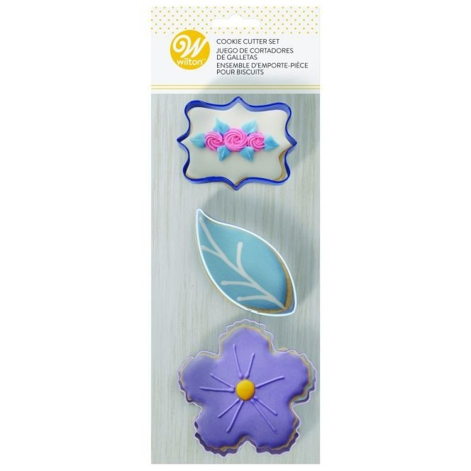 Cookie Cutters - Floral - 3pc - Wilton