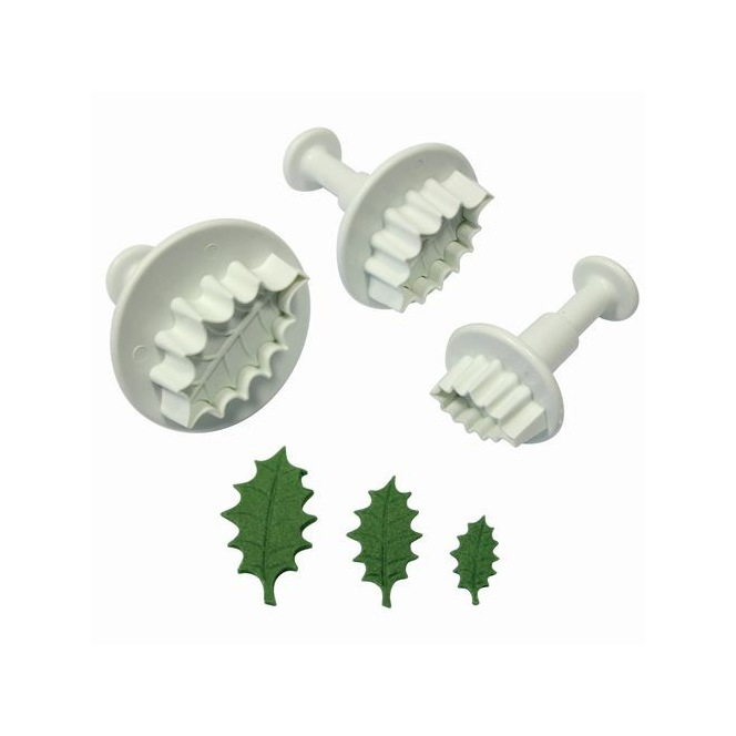 Holly leaf plunger cutter set of 3 - PME
