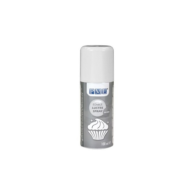 Edible glaze spray - Silver - 100ml - PME