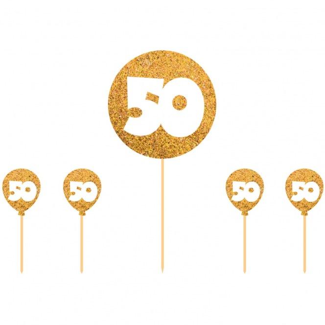 Cake Topper - 50 Gold - Folat