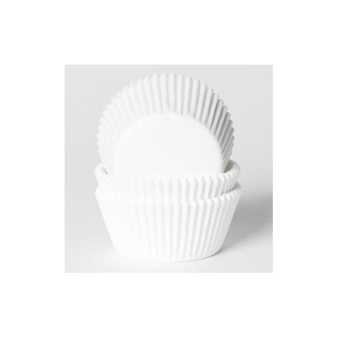 Baking Cups - White - pk/50 - House of Marie