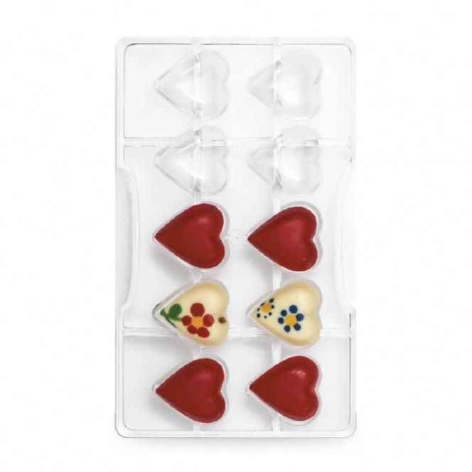Chocolate mold - Heart / 10pcs - Decora