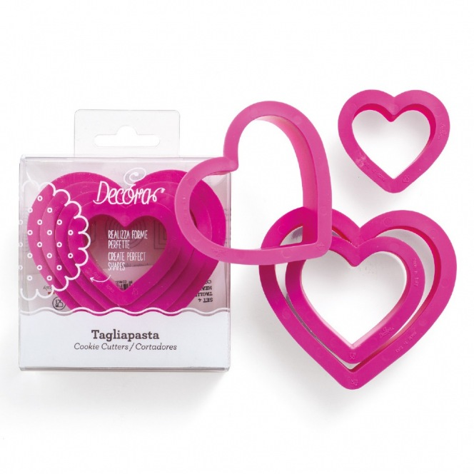 Cookie Cutters - Heart 5pcs - Decora