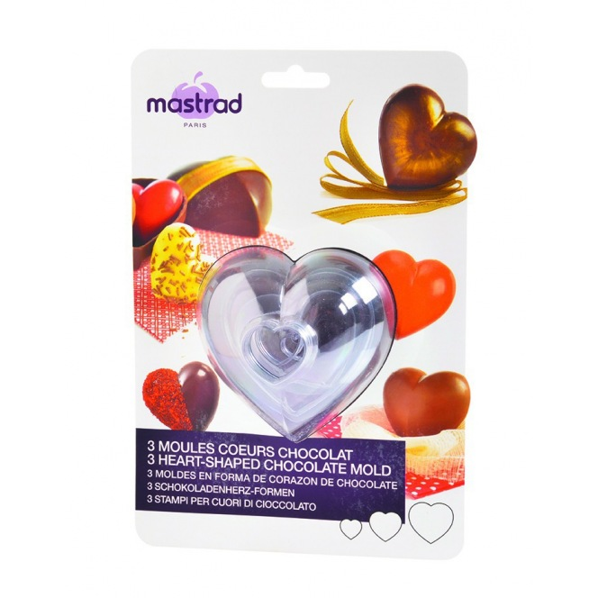 Chocolate Moulds - Hearts - 3pcs - Mastrad