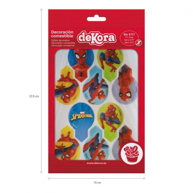 Wafer Toppers - Spiderman 20pcs - Dekora