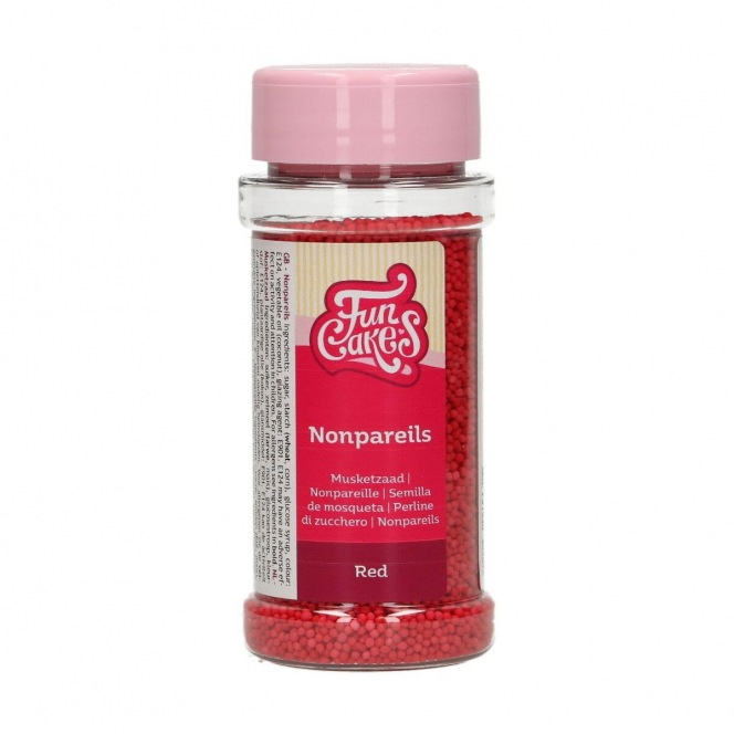 FunCakes Nonpareils - Red - 80g